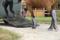Transportbeschermers Traveller 500 ruitersport zwart en grijs x4 - maat paard - 1126395