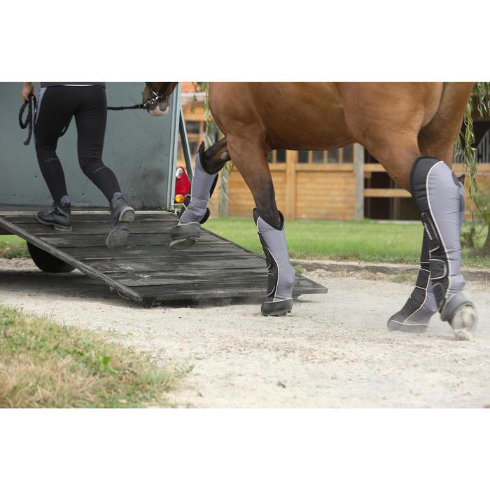 4 transportbeschermers ruitersport paard Traveller 500 zwart en grijs