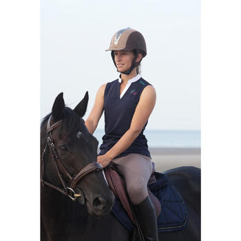 Tapis de selle équitation poney et cheval STRASS bleu marine