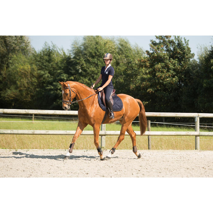 Sattelpad Schaumstoff Lena Fleece für Pferd/Pony marineblau