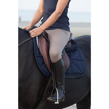 Pantalon équitation femme BR980 LIGHT full grip silicone - 1126440