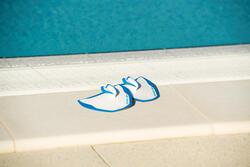 Peddel Fingerpaddle Quick'in voor zwemmen wit/blauw - 1126455