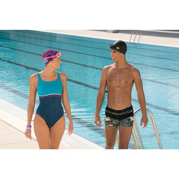 Maillot de bain de natation une pièce femme Loran corail - 1126469