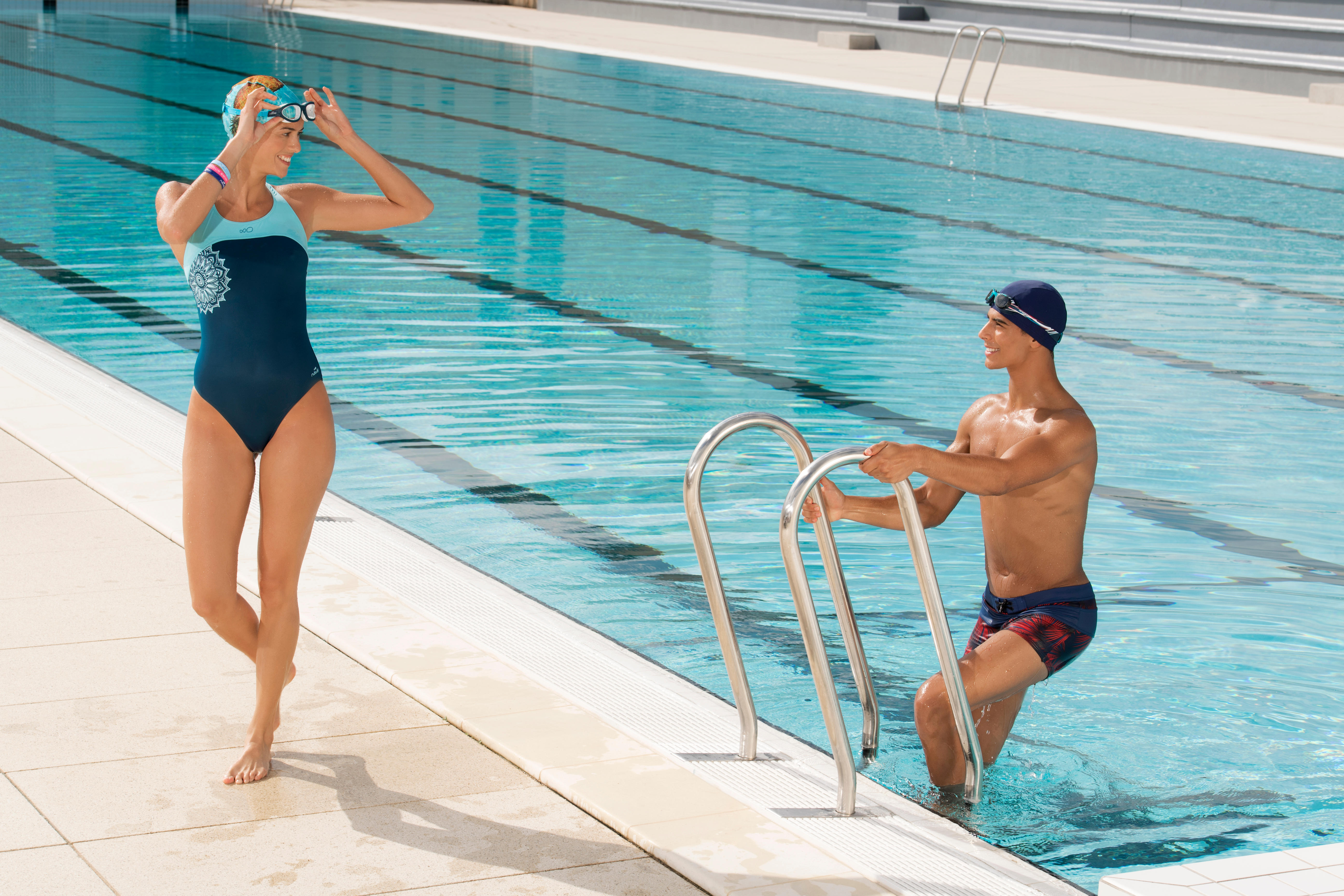 Swim Cap Mesh - Navy Blue