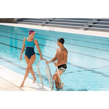 Lunettes de natation 100 EASYDOW Taille L Noir Vert