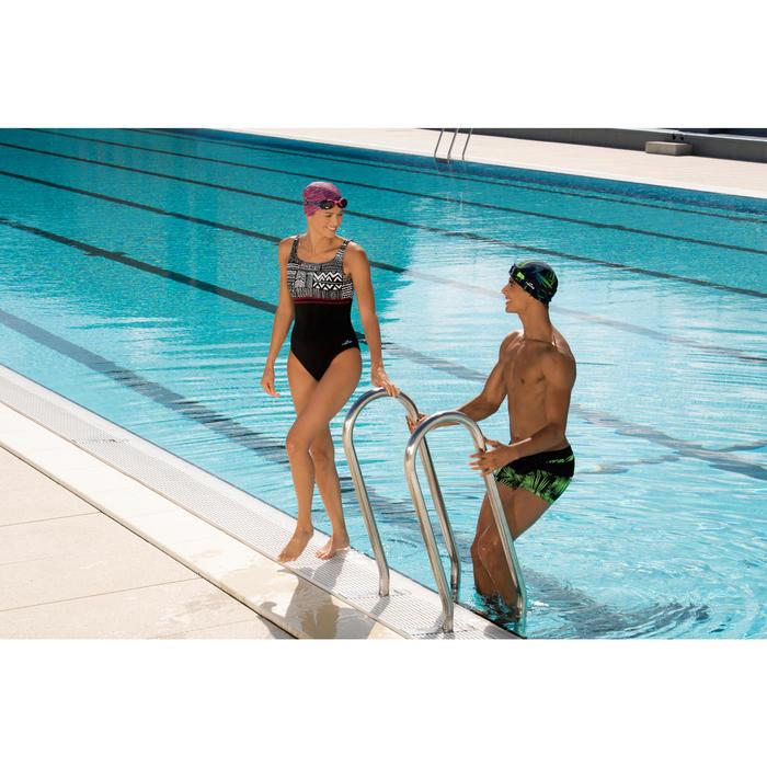 Maillot de bain de natation une pièce femme Loran corail - 1126473