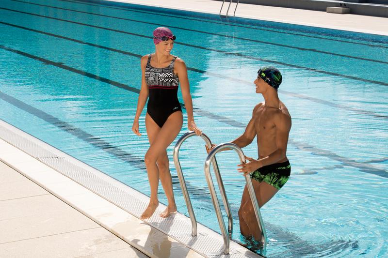 Traje de baño de natación una pieza para mujer Loran nibi negro