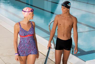 مايوه 100 PLUS PIP للرجال للسباحة - أسود