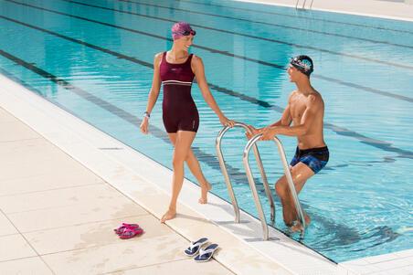 Maillot de bain de natation femme une pièce shorty Loran violet