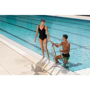 Maillot de bain de natation femme gainant une pièce Kaipearl noir