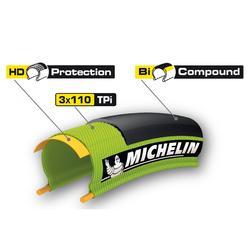 Buitenband voor racefiets Pro 4 zwart 700x25 vouwband / ETRTO 25-622