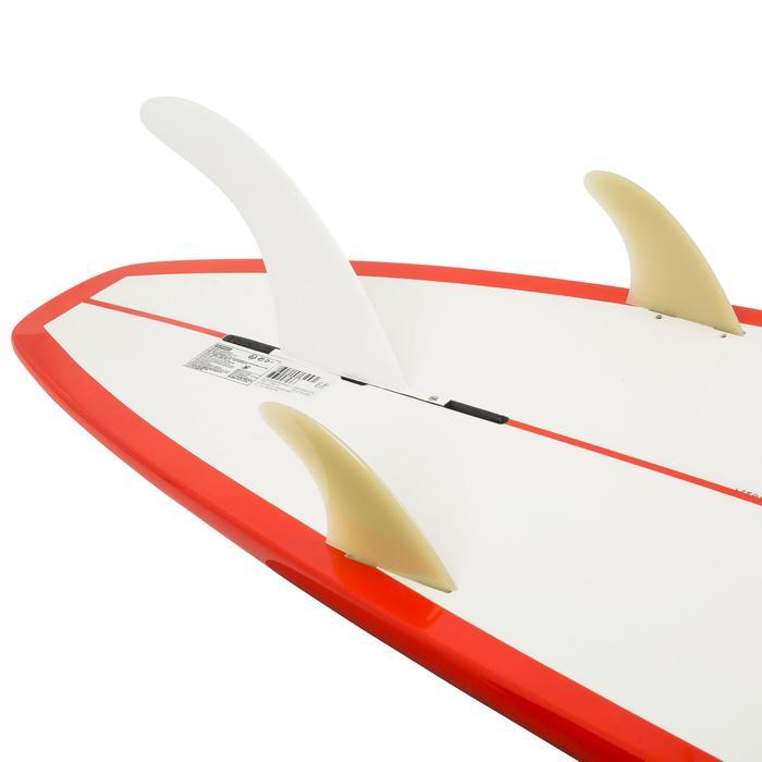 Planche de surf Longboard 500 9'  avec ailerons FCS. - 1126536
