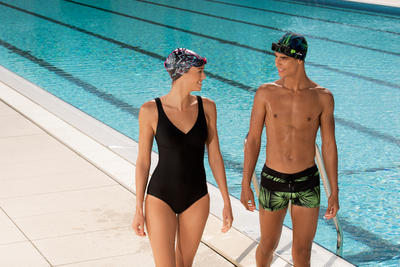Kaipearl Women's Body-Sculpting One-Piece Swimsuit - Black