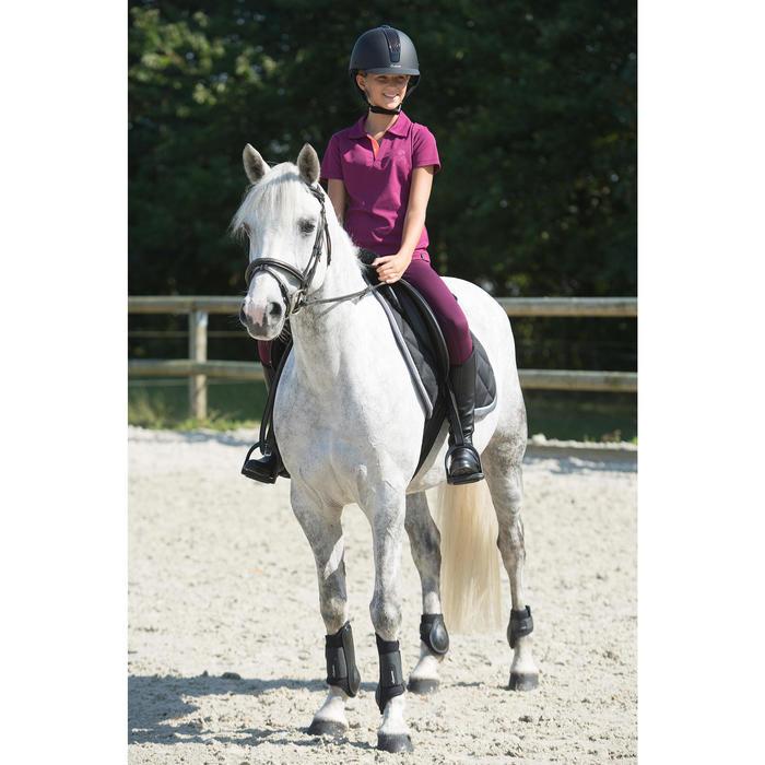 Mini-chaps équitation enfant ClASSIC 100 synthétique noir - 1126569