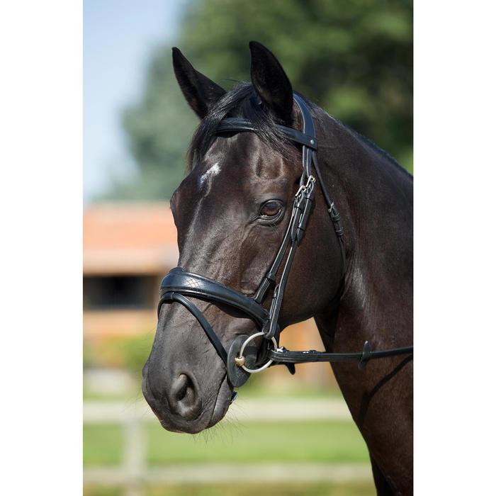 Trense und Zügel Pull Back Pferd schwarz