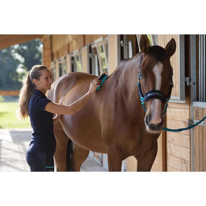 Cepillo suave modelo grande equitación SCHOOLING azul