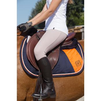 Boots équitation adulte PADDOCK LACETS camel - 1126646