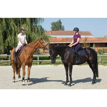 Mantilla de silla equitación poni y caballo ESTRÁS azul marino