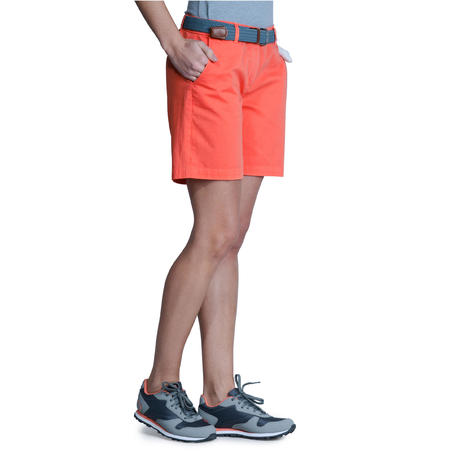 Women Golf Shorts 500 - Coral