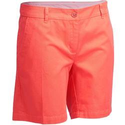 500女款高爾夫球百慕達短褲 - 珊瑚色