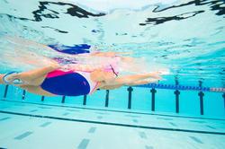 Peddel Fingerpaddle Quick'in voor zwemmen wit/blauw - 1126738