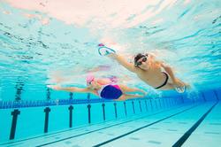 Peddel Fingerpaddle Quick'in voor zwemmen wit/blauw - 1126740