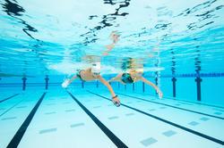 Peddel Fingerpaddle Quick'in voor zwemmen wit/blauw - 1126741