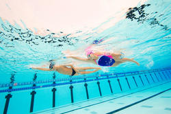 Peddel Fingerpaddle Quick'in voor zwemmen wit/blauw - 1126743