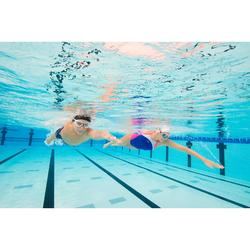 Máscara de natación 500 ACTIVE talla S Blanco Azul cristales claros