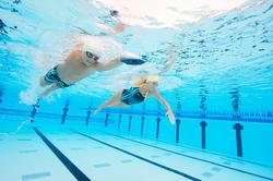 Peddel Fingerpaddle Quick'in voor zwemmen wit/blauw - 1126751