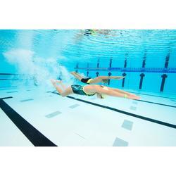 男童款HEXA FIRST 500競賽泳褲 - 黃色/黑色