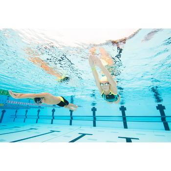 Lunettes de natation SUEDOISES jaune argent miroir