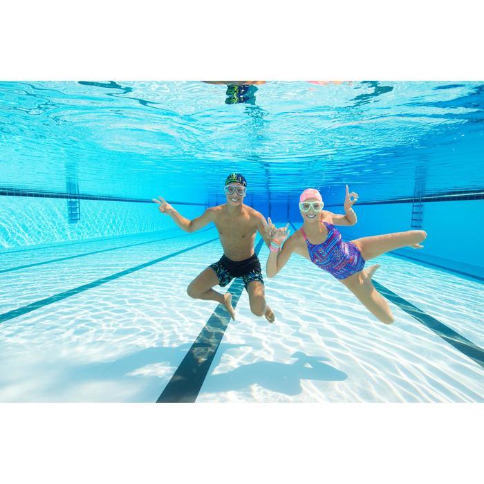 Máscara de natación 100 SWIMDOW Talla L Negro Azul