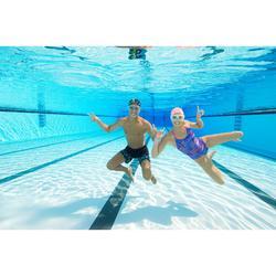 Zwembril 100 Swimdow maat L zwart/blauw