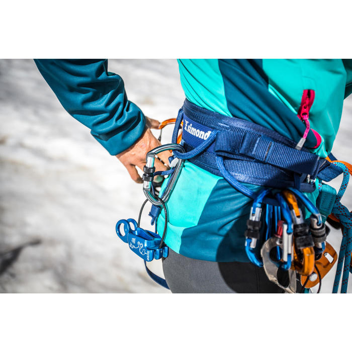 Klimgordel voor klimmen en alpinisme Rock blauw