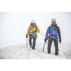 男款登山運動軟殼外套-淡藍色
