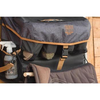 Sac de box équitation ALL IN gris et camel 50 L - 1126938