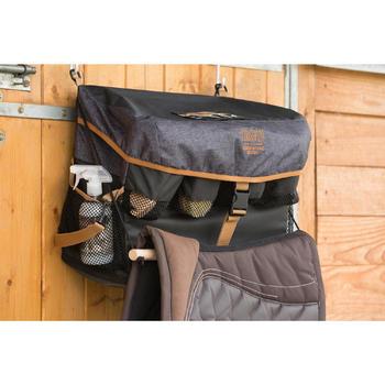 Sac de box équitation ALL IN gris et camel 50 L - 1126953