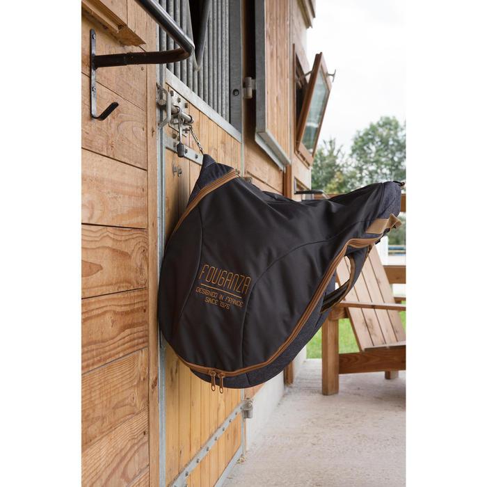 Bolsa para Silla Equitación Fouganza Gris Jaspeado/Camel