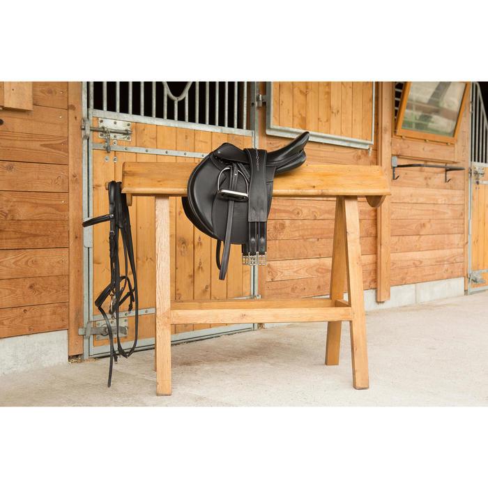 Cincha de cuero equitación Fouganza ROMEO caballo y poni negro