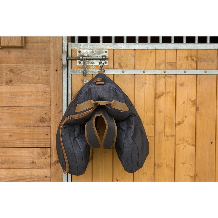 Zadelzak ruitersport gemêleerd grijs/camel