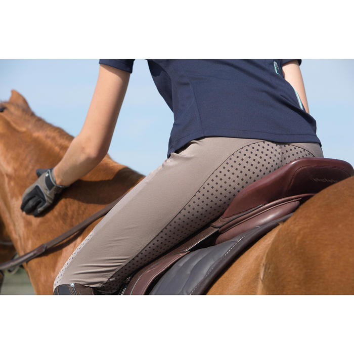 Pantalon équitation femme TRAINING LIGHT bandes silicone - 1126982