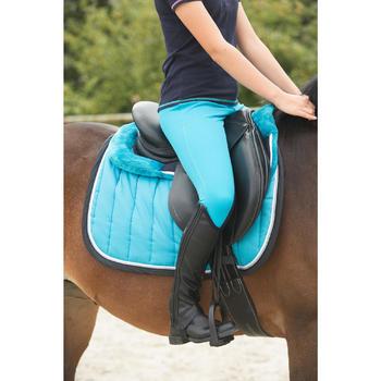 Cincha equitación cuero poni y caballo ROMEO negro