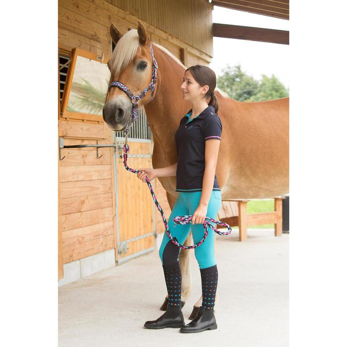 Paardrijkousen Ster kinderen watergroen/roze of marineblauw/roze 2 paar - 1127000
