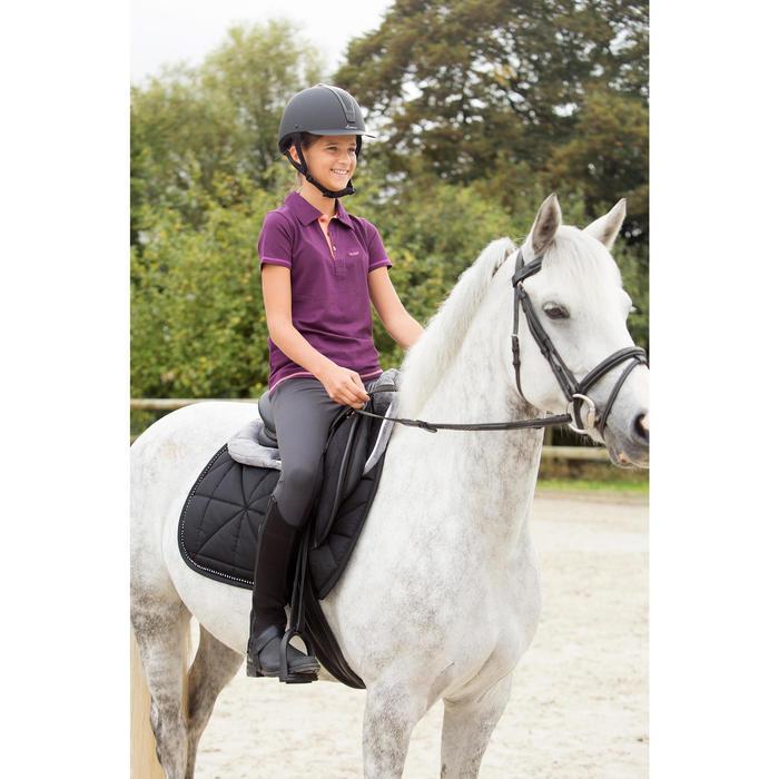 Tapis de selle équitation poney et cheval STRASS noir