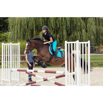 Zadeldek Jump ruitersport turquoise - paard