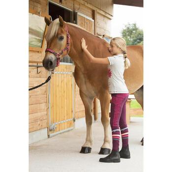 Cabestro equitación poni y caballo PLAIT burdeos