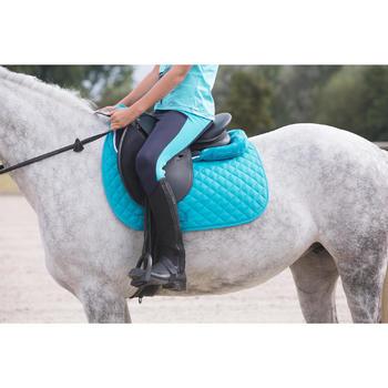 Zadeldek Schooling ruitersport paard en pony turquoise