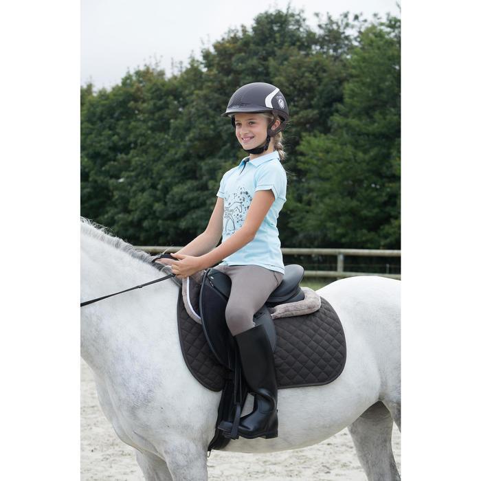 Mantilla de silla equitación poni y caballo SCHOOLING marrón