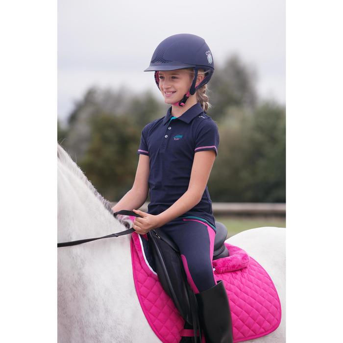 Pantalon équitation fille BR120 marine et - 1127026